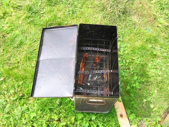 Коптильня горячего копчения из металла своими руками фото 917